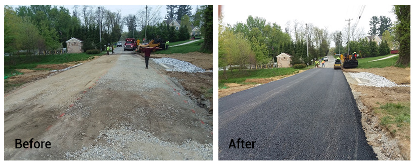 East Brandywine Township Before and After photo